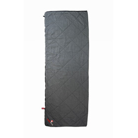 Grüezi-Bag WellhealthBlanket Wool Deluxe Sleeping Bag Grey Melange/Berry